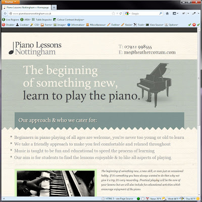 Screen shot of http://www.pianolessonsnottingham.co.uk/.
