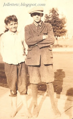 Boys in Velma Davis Woodring's scrapbook 1925