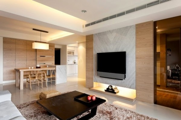 Beautiful wooden wall panels as an elegant accent wall : light wooden wall panels for living room and dining room from www.decor-zoom.com size 600 x 400 jpeg 48kB