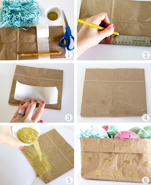 Home design ide diy glitter easter paper bag baskets home design ide negle Gallery