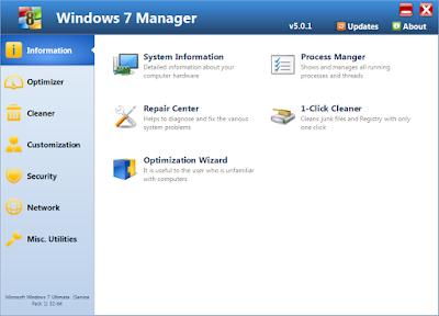 Download Windows 7 Manager v5.1.7 Full Version