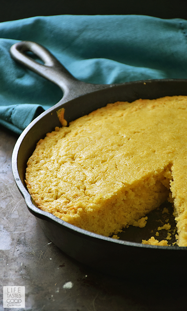 Skillet Cornbread Recipe | Life Tastes Good