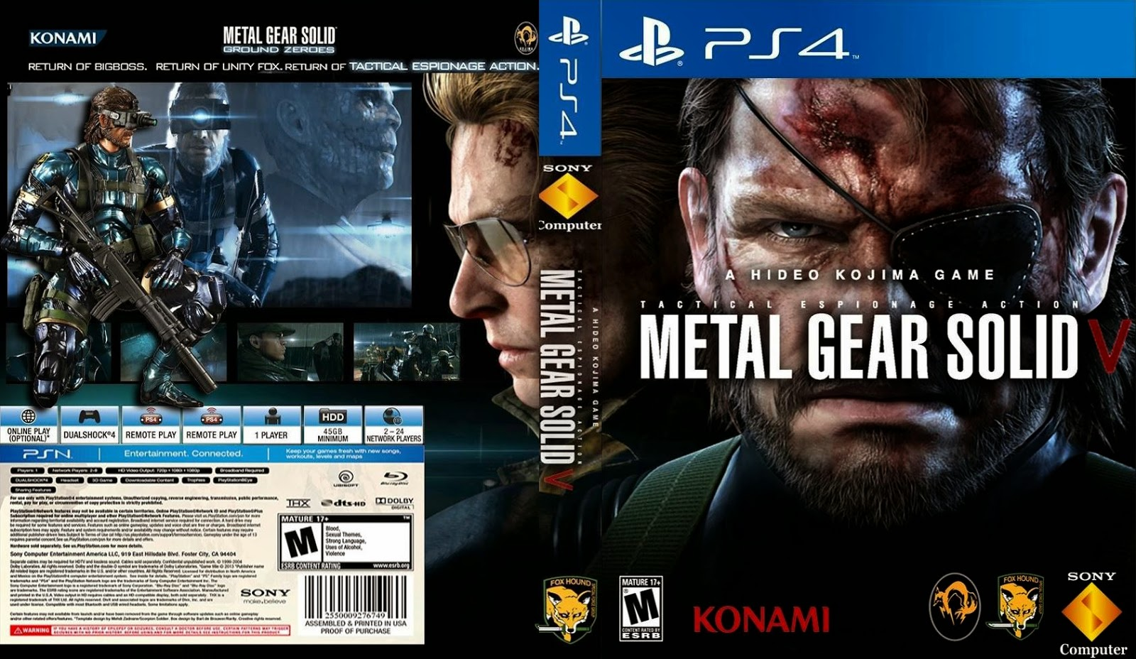 Capa Metal Gear Solid V PS4
