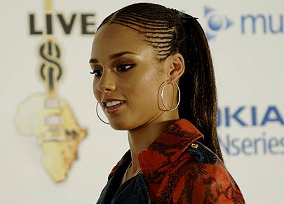 anotherallergymom: Alicia Keys Afro American Braided Hairstyles