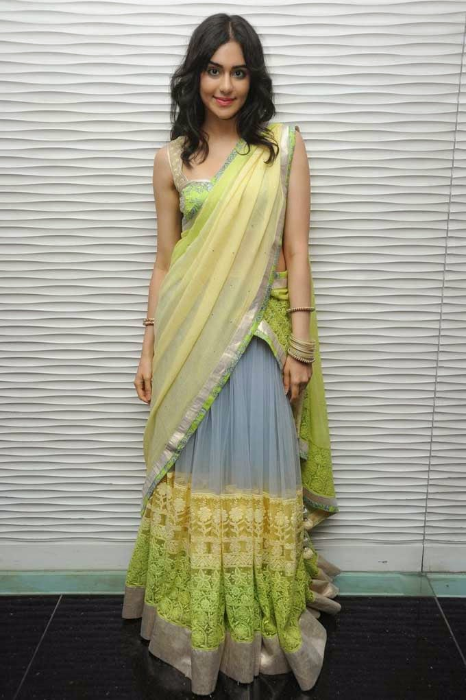 Adah Sharma In Designer Half Saree