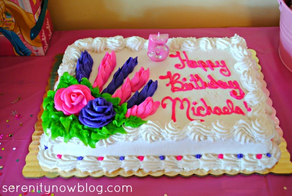 Barbie Party Cake, from Serenity Now blog