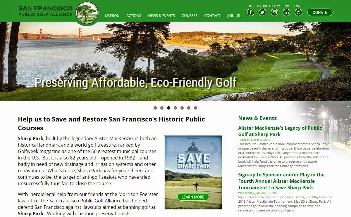 San Francisco Public Golf Alliance Website
