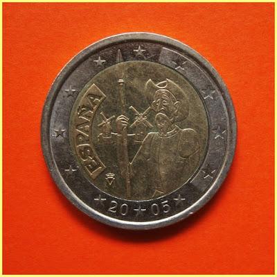 2 Euros España 2005 Quijote