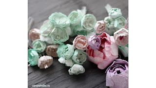 Мини-ранункулюсы (пионы, маки) своими руками, мастер-класс+видео. Нож для Бигшота Carnation creation. Автор Carambolka (carambolka.ru)