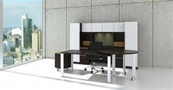 White Glass Accented Desk Set