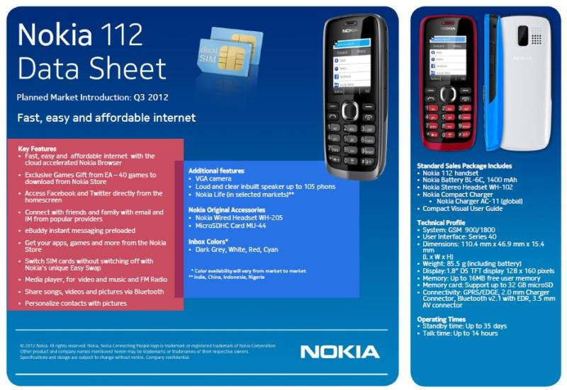 Keluarga baru: Nokia 112