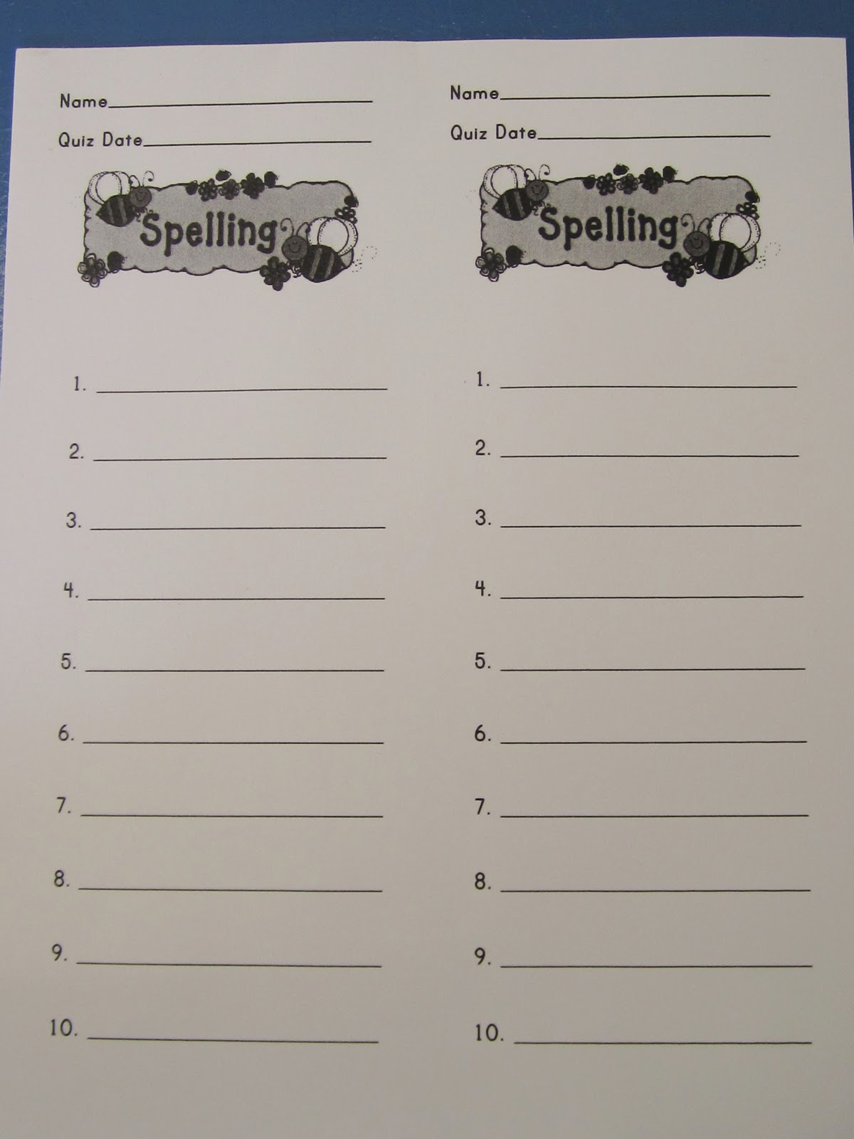 Spelling Test Paper 20 Words. First Grade Spelling Test Template. View ...