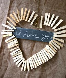 dia dos namorados - artesanato - coração pregador de roupa