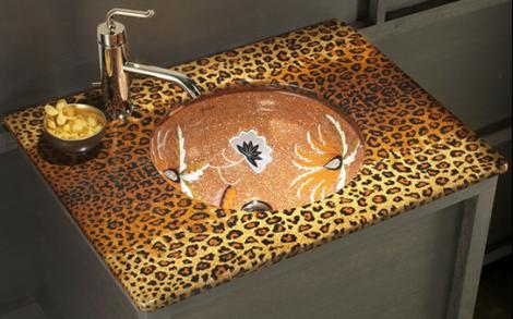 Curtain idea for living room 2015 ask home design for Cheetah bathroom ideas