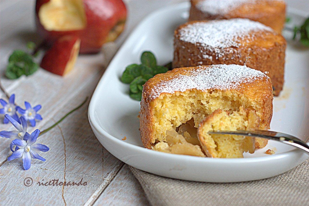 Minicakes di mele alla ricotta ricetta dolce