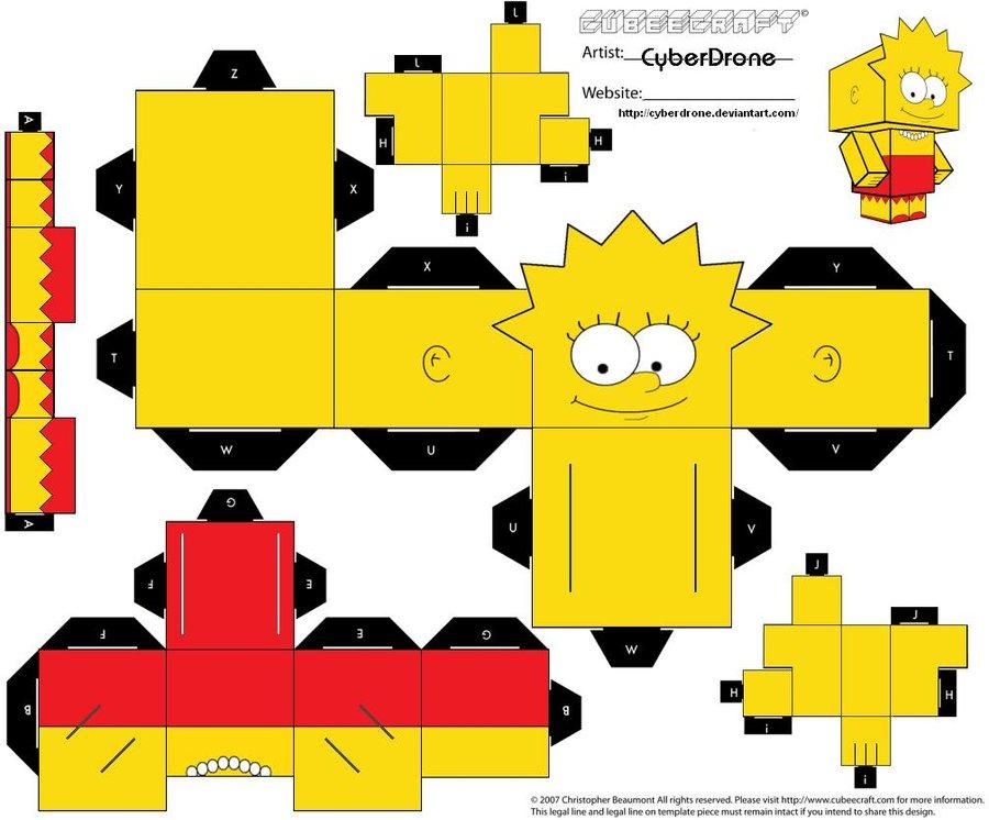 Lisa Simpson Papercraft