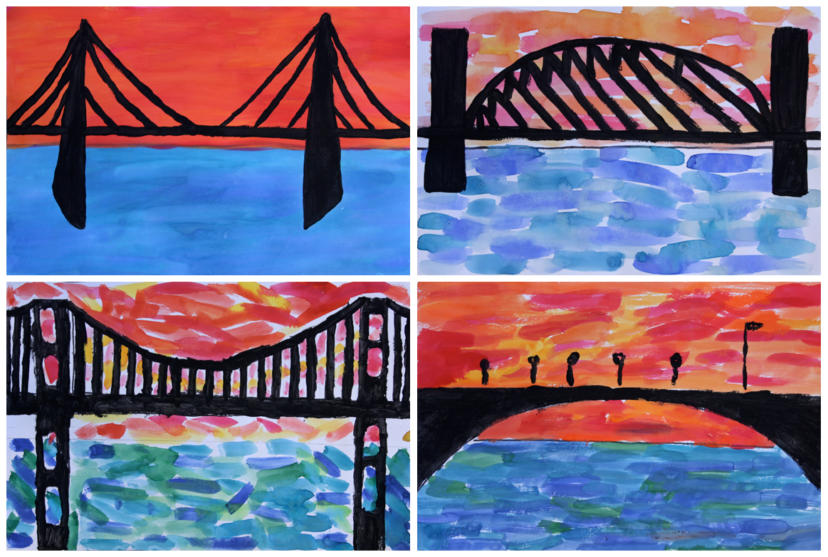 Art With Mr Hall: Bridge Silhouettes for silhouette art projects for kids  117dqh