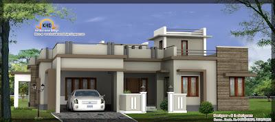 Single Floor Home Design Elevation
