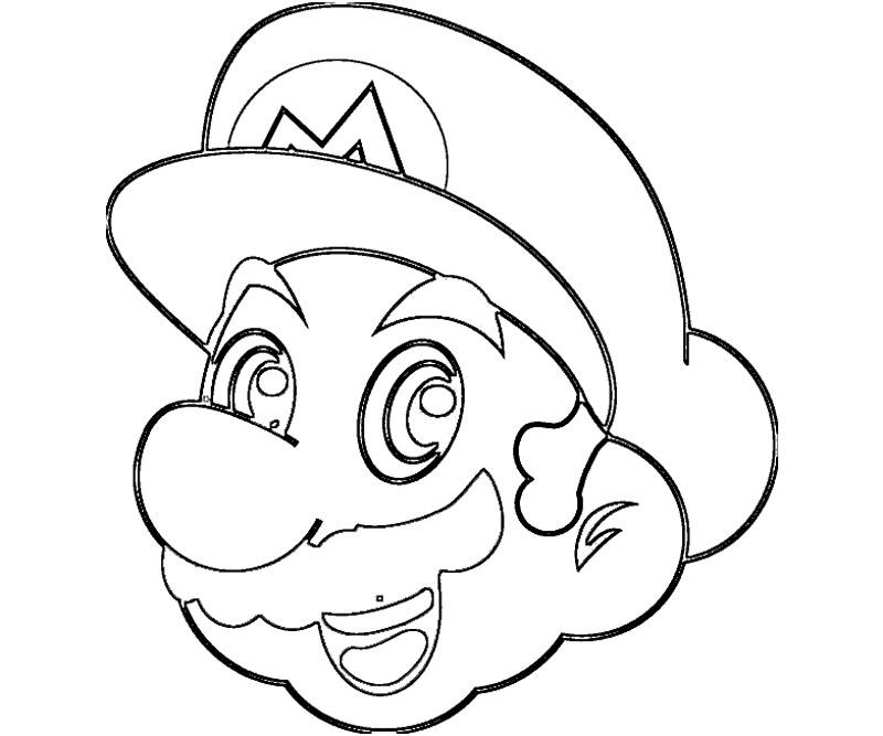 #6 Super Mario Coloring Page
