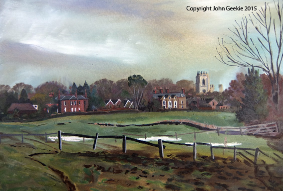 Video - St. Mary's, Beverley, plein air painting.