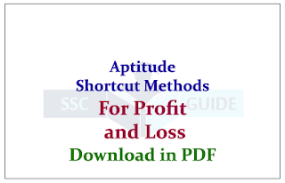 Aptitude Shortcut Methods and Rules for Profit and Loss Download