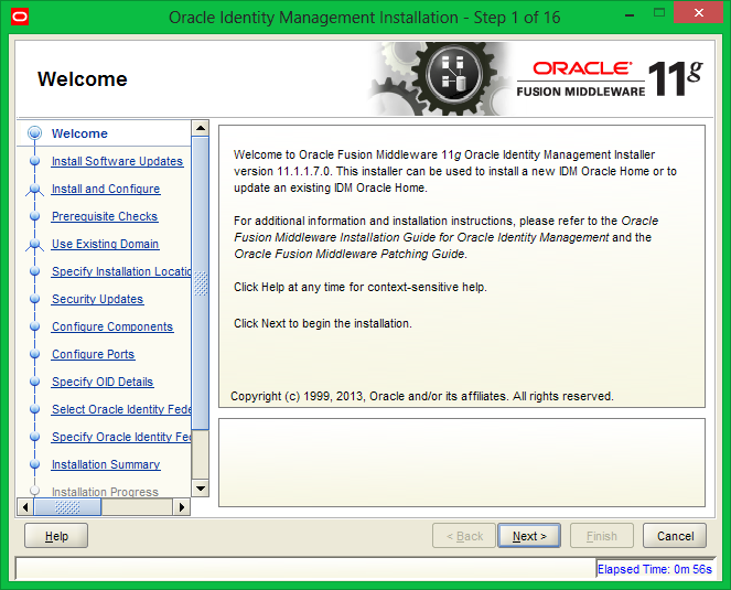 basic install steps for oracle identity