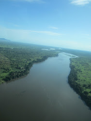 Heading north over the Nile from Juba