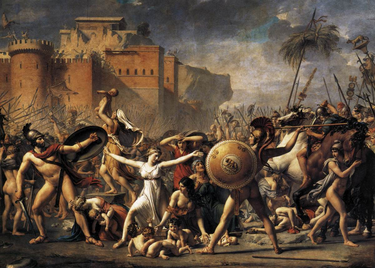 The Intervention of the Sabine Women Oil on canvas, 385 x 522 cm. 1799