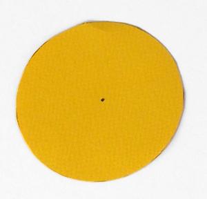 κύκλος από χαρτί, κίτρινος κύκλος