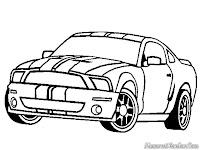 Mewarnai Gambar Mobil Ford Shelby GT500