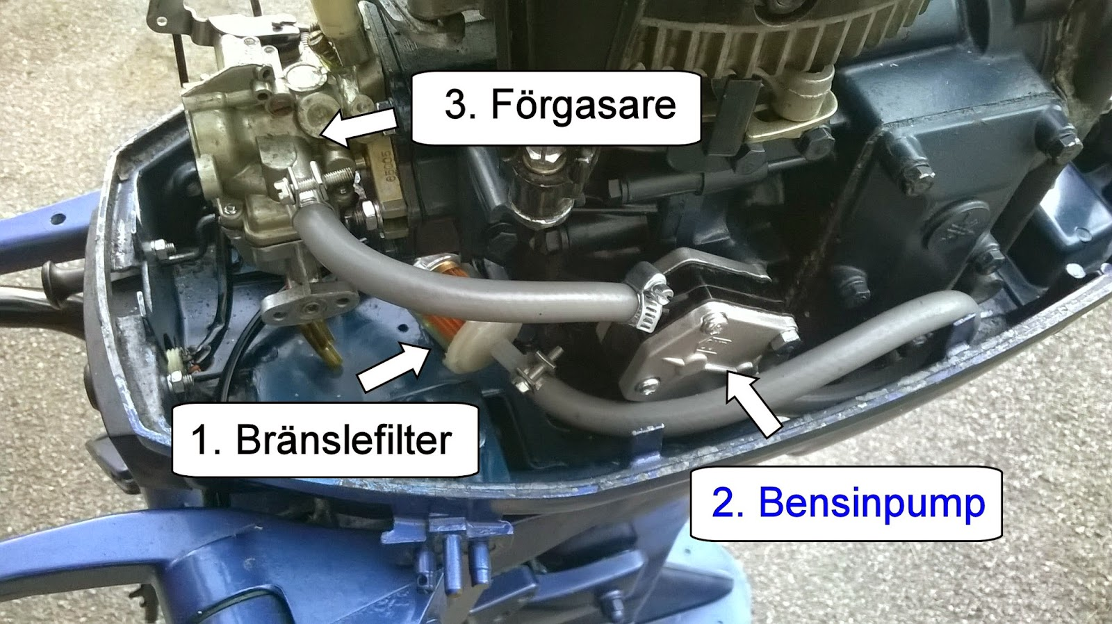 Bränslefilter båtmotor