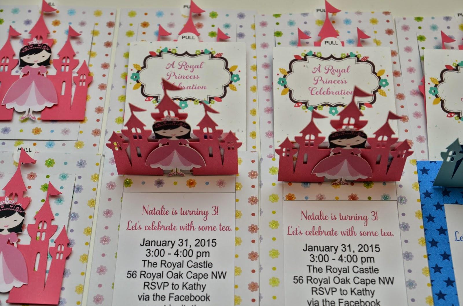 Jingvitations: Asian Princess Invitations using Silhouette Cameo and ...