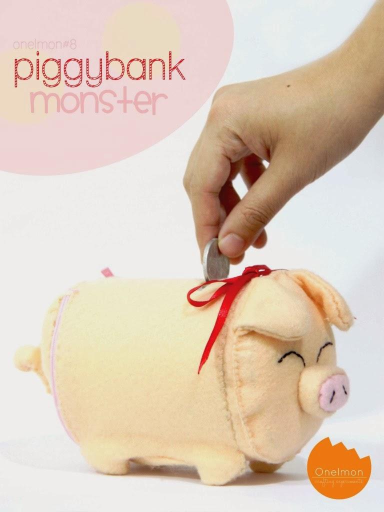Diy felt piggy bank diy craft projects for Piggy bank ideas diy