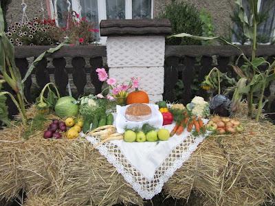 Dożynki 2015 Krzanowice zwyczaje dożynkowe dekoracje