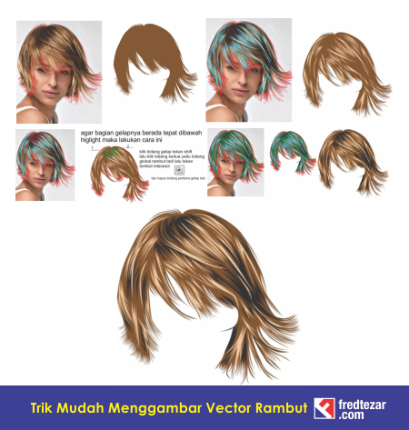 trik cepat, mudah memvectorkan rambut menggunakan softwar coreldraw