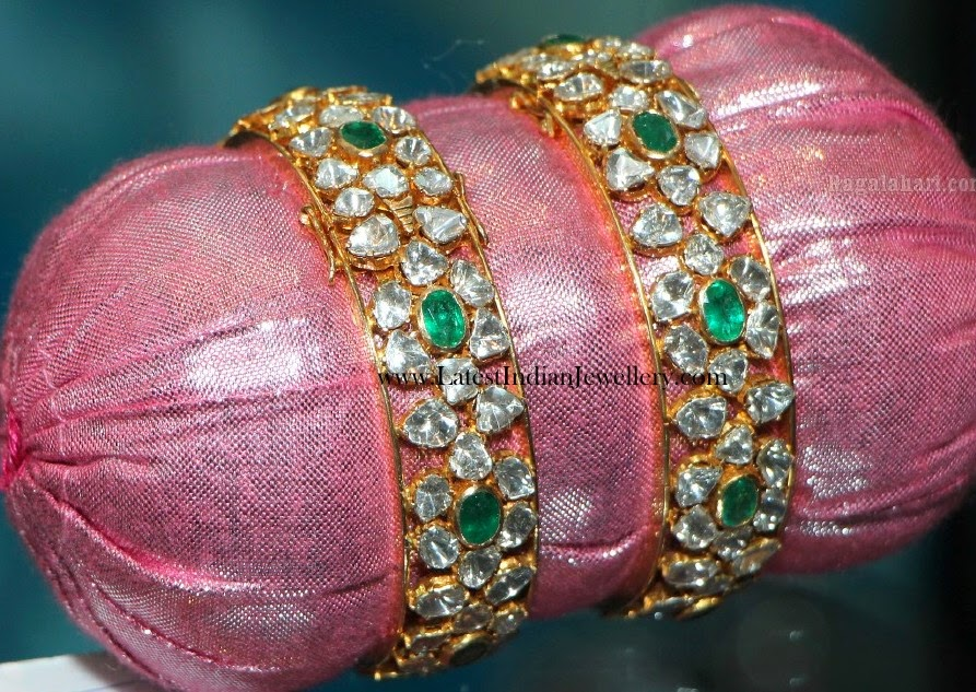 Polki Diamond Bangles Pair