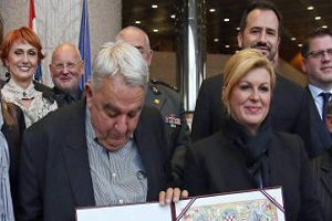 This Man's Pants Fell Down During a Photo Op with the Croatian President