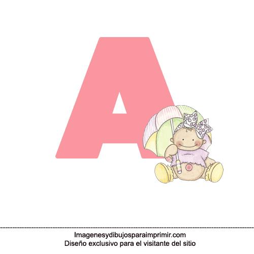 Letra a de bebe para imprimir
