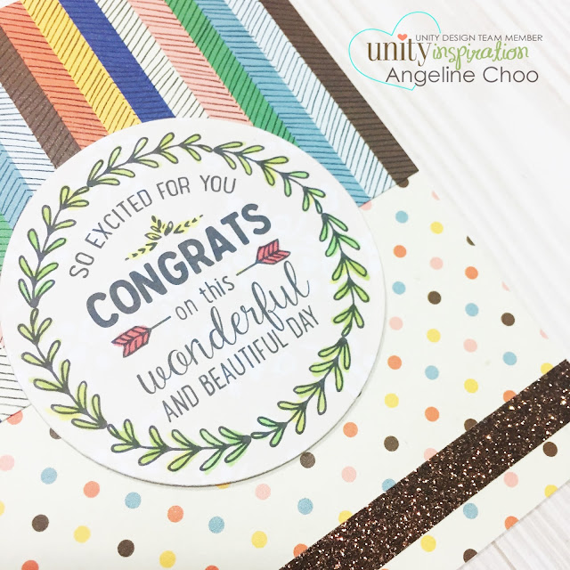 ScrappyScrappy: Congrats card #scrappyscrappy #unitystampco #stamp #card