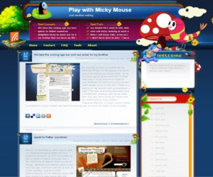 Play with Micky Mouse Blogger Template