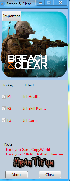 Breach And Clear V4.2.1.11687 Trainer +3 MrAntiFun
