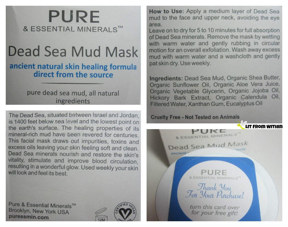 Pure and Essential Minerals Dead Sea Mud Mask