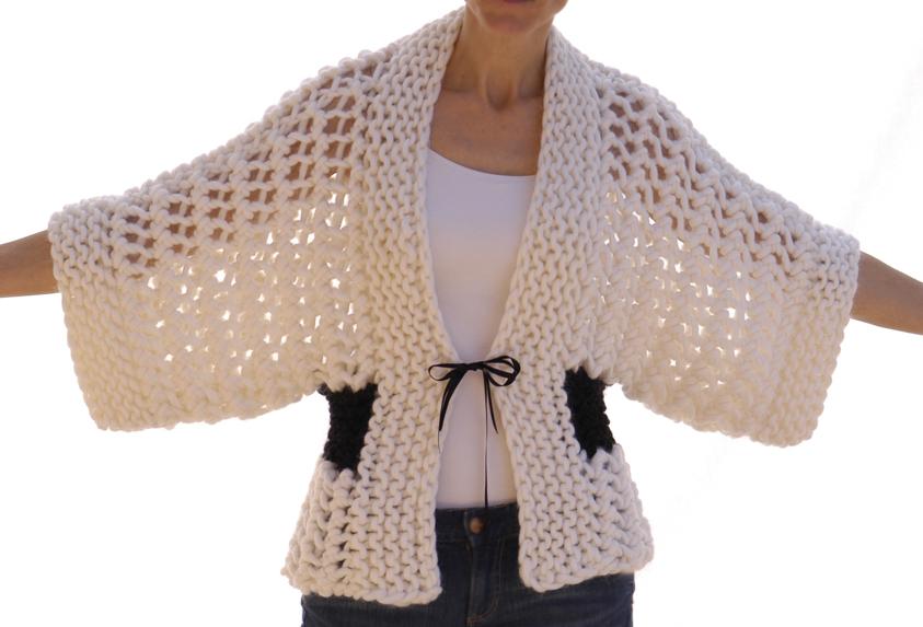Free Crochet Pattern For Kimono : Knit 1 LA: the Openwork Kimono