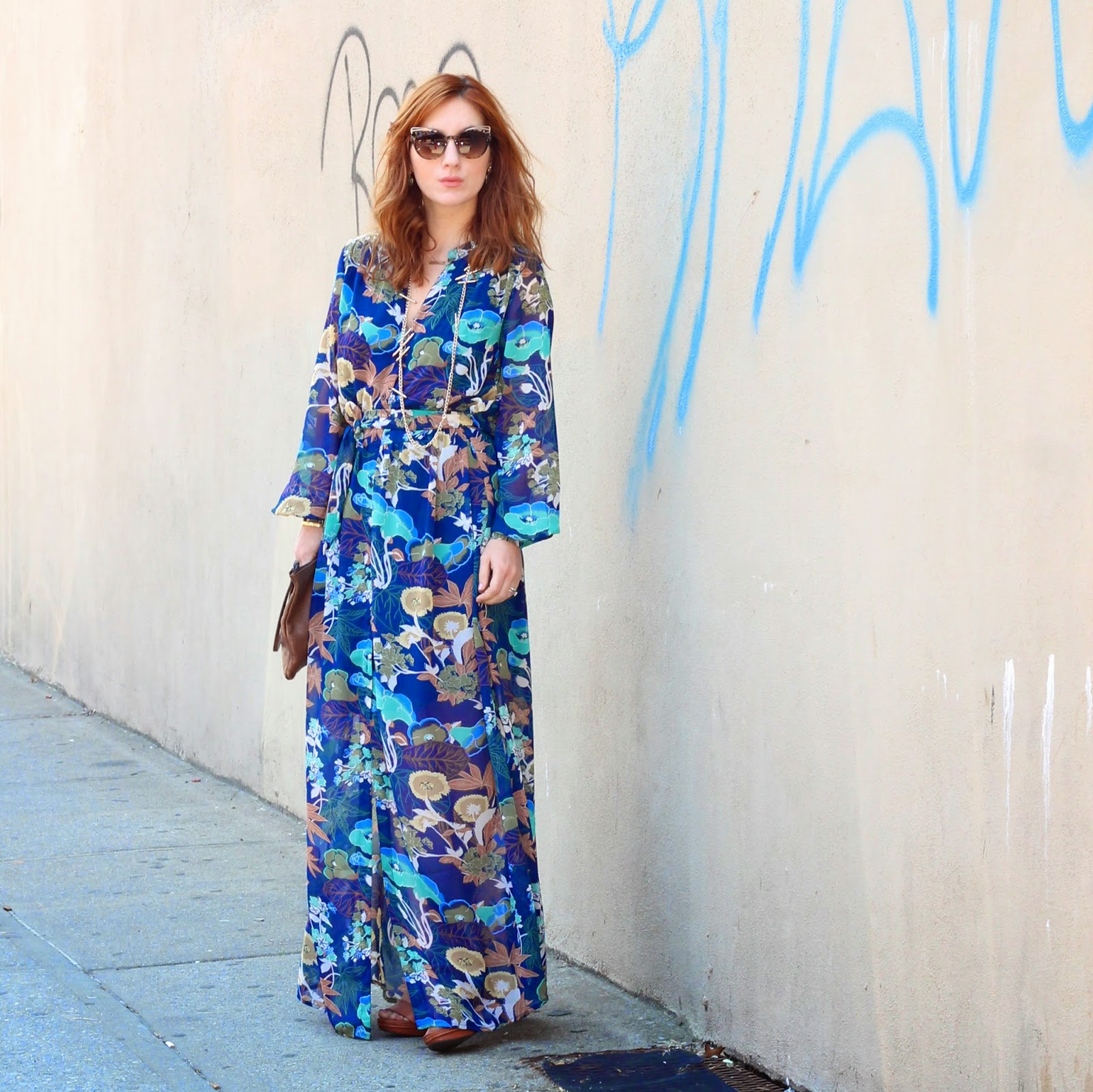 printed maxi dress, H&M blue maxi dress, best maxi dresses for spring 2015, maxi dresses under $50