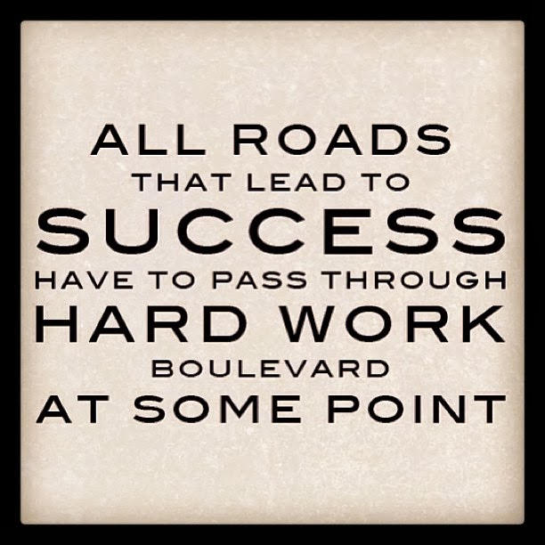all roads that lead to success have to pass through hard