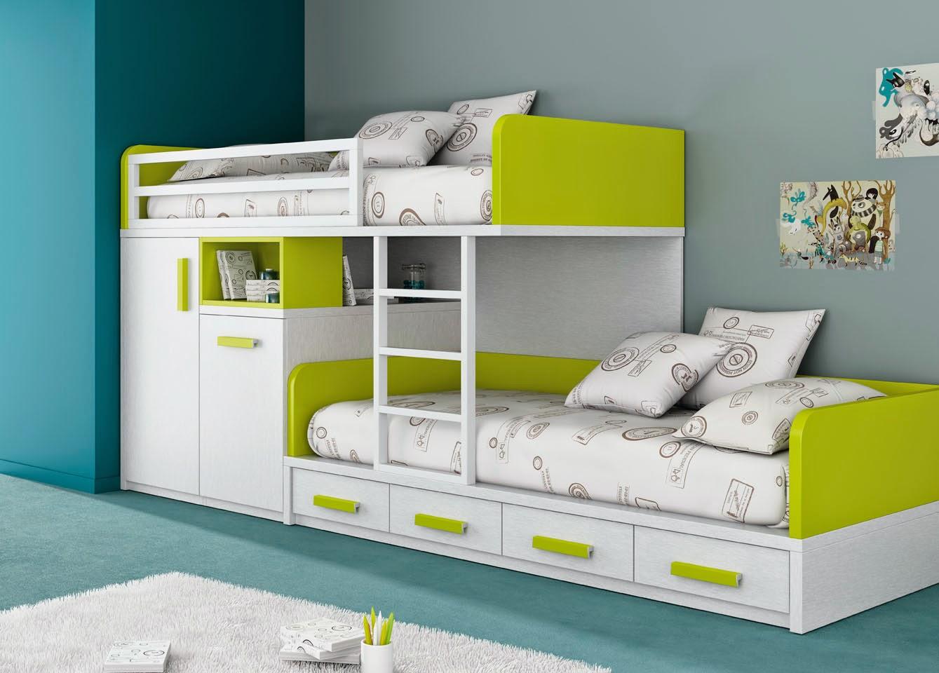 Camerette piccole, soluzioni salvaspazio   mobili ros