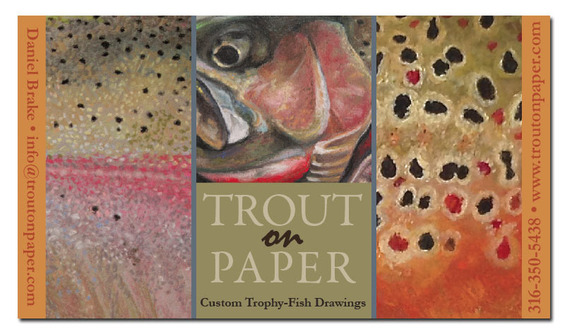 Trout on Paper - Custom Trophy Fish Drawings by Daniel Brake