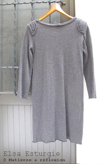 Robe laine grise Elsa Esturgie