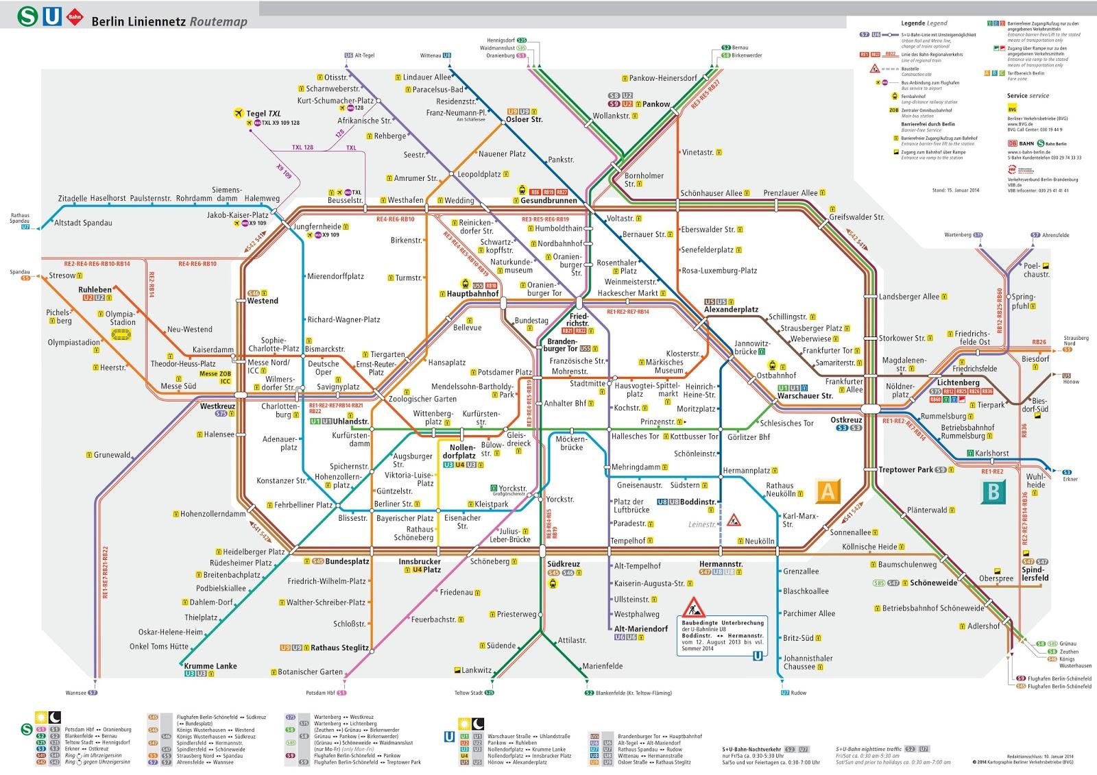 peta transportasi umum kereta s-bahn u-bahn berlin 2015