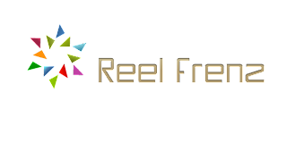 Reel Freez logo with triangles